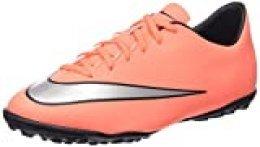 Nike Jr Mercurial Victory V TF - Zapatillas de Deporte, Niñas, Mullticolor (BRGHT MNG / MTLLC SLVR HYPR TRQ), 37.5