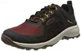 Keen Explore WP, Zapatos para Senderismo para Hombre, Negro/Ladrillo Cocido, 40.5 EU