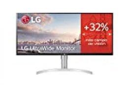 "LG 34WN650-W - Monitor UltraWide Plano de 34"" (Panel IPS: 2560 x 1080, 21:9, 400nit, 1000:1, HDMI x 2, DP x 1, AMD FreeSync, Altavoces 2 x 7 W) Blanco"