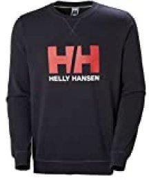 Helly Hansen HH Logo Crew Sudadera, Hombre, Azul Navy, S