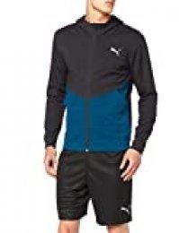 PUMA Reactive FZ Jacket Chaqueta De Entrenamiento, Hombre, Black-Gibraltar Sea, L