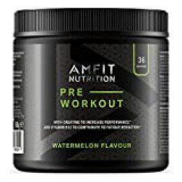 Marca Amazon Amfit Nutrition - PRE-ENTRENO Sabor a sandía 360 g, 36 porciones