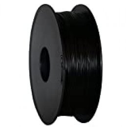 GEEETECH Filamento PLA 1.75mm para impresión 3D, 1kg Spool, Negro