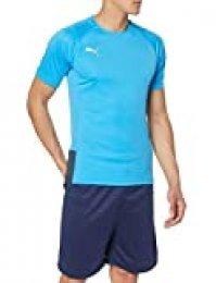 PUMA ftblNXT Pro Shirt Camiseta, Hombre, Bleu Azur-Red Blast, XL