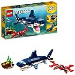 LEGO Creator - Criaturas del Fondo Marino, tiburón de juguete y animales marínos para construir (31088)