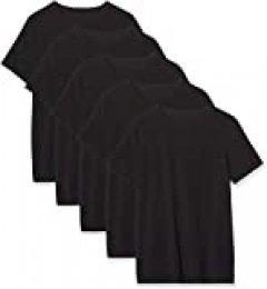 Marca Amazon - MERAKI Calzoncillo Corto de Algodón Hombre, Pack de 5, Negro (Black), L