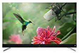 TCL U55C7006 Televisor 140 cm (55 Pulgadas) Smart TV (4K, Android TV, HDR 10, Triple Tuner, Micro Dimming, Sound by JBL) Titanium