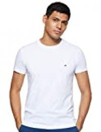 Tommy Hilfiger Core Stretch Slim CNECK tee Camiseta, Blanco (Bright White 100), X-Large para Hombre