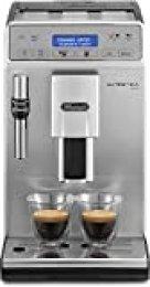 De'Longhi Autentica Plus - Cafetera Superautomática Espresso y Cappuccino, Depósito de Agua 1.4 l, Pantalla LCD y Panel Táctil, Acero Inoxidable, Molinillo Silencioso, 1450 W, ETAM 29.620.SB, Plata
