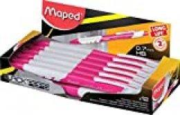 Maped - Caja de 12 portaminas Black 'Peps Long Life (diámetro de mina de 0,7 mm), color rosa
