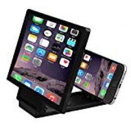 REFURBISHHOUSE 3D Mobile Pantalla del Telefono Lupa Amplificador de Video HD para Telefonos Inteligentes Negro