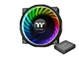 Thermaltake Riing Plus 20 RGB TT Premium Edition - Ventilador de Caja RGB de Alto Rendimiento con Software, Color Negro