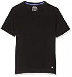 Champion T-Shirt V-Neck X2 Camiseta Deportiva Mujer, Negro (Noir 3am), Medium (Pack de 2) para Hombre