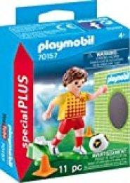 Playmobil 70157Special Plus Jugadores de Fútbol con Puerta Pared, Multicolor
