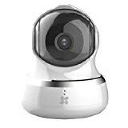 Ezviz C6B 960P Cámara de seguridad, 2.4 Ghz WiFi Pan/Tilt Audio Bidireccional, Visión Nocturna, Servicio de Nube Disponible, Compatible con Alexa, Google Home y IFTTT, Blanco,