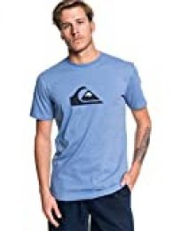 Quiksilver Comp-Camiseta para Hombre, Light Grey Heather, S