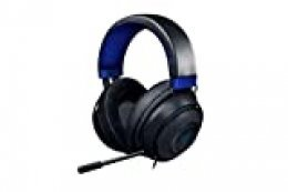 Razer Kraken para Consolas Auriculares Gaming con Cable, Compatible con PC, PS4, Xbox One, Nintendo Switch con controlador de 50 mm, micrófono retráctil y almohadillas de gel, Color Azul y Negro