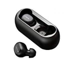 Auriculares bluetooth, HOMSCAM Auriculares inalámbricos QCY Bluetooth 5.0 Sonido Estéreo Auricular Mini Twins In-Ear Auriculares Carga Rapida Resistente al Agua con Caja de Carga para iPhone y Android