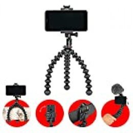 JOBY GripTight PRO 2 GorillaPod - Soporte universal y trípode flexible Pro para cualquier Smartphone e iPhone, con o sin funda, JB01551-BWW
