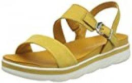 MARCO TOZZI 2-2-28511-24, Sandalia con Pulsera para Mujer, Amarillo Saffron 627, 37 EU