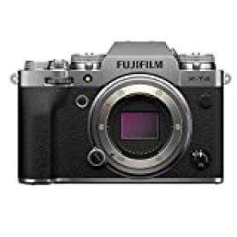 Fujfilm X-T4 Cámara Digital sin Espejo de Objetivo Intercambiable, Color Plateado