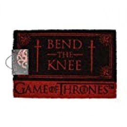 Game Of Thrones Bend The Knee Door Mat Felpudo, Goma, Multicolor, 40 x 60 cm