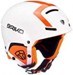 Briko Faito-Fluid Inside, Casco Unisex Adulto, Unisex Adulto, 2001ST0, A88White Orange Fluo, S