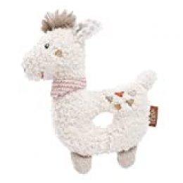 Fehn 058154 - Anilla de agarrar para bebé con sonajero, diseño de Lama, color beige