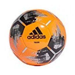 adidas Team Glider Balón Fútbol Hombre, Naranja (Narsol/Negro/Plamet), 4