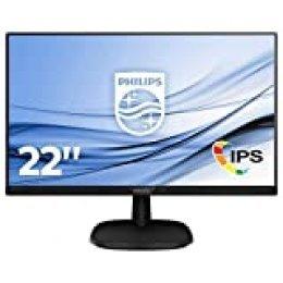 "Philips 223V7QHAB/00 - Monitor IPS de 21.5"" con Altavoces (Full HD, 1920x1080, Sin bordes, Flicker Free, Low Blue Mode, VESA, VGA + HDMI)"