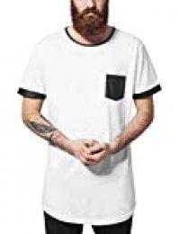 Urban Classics Long Shaped Leather Imitation tee Camiseta para Hombre