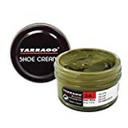 Tarrago Shoe Cream Jar 50 ml - Crema tinta para zapatos y bolsos, unisex, adulto, Oliva (Olive 34), 50 ml