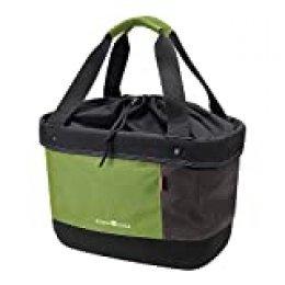 KlickFix Unisex - Adultos Shopper Alingo Lenkerkorb, Verde/marrón, 17 litros