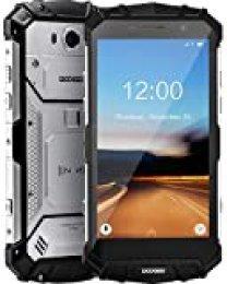 DOOGEE S60 Lite Smartphone Al Aire Libre Robusto 4G, Face ID Celular Doble SIM Libre Android 8.1, Teléfono Móvil IP68 Octa Core 4+32GB, 5,2 Pulgadas FHD NFC GPS 5580mAh Cámara 16+8MP Móvil, Plateado