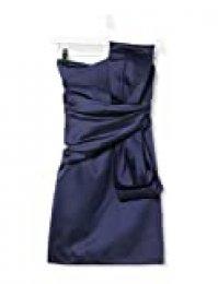 Marca Amazon - TRUTH & FABLE Vestido Corto con Hombros al Aire de Satén Mujer
