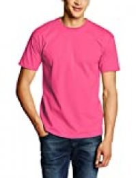 Fruit Of The Loom Valueweight Tee - Camiseta para Hombre, Rosa (Fuschia), S