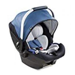Hauck iPro Baby i-Size - Portabebés de nacimiento con reductor recién nacido de dos piezas, evolutiva, ligera, compatible con Base Isofix de Hauck, silla de auto para bebé grupo 0+ hasta 13 kg, Azul