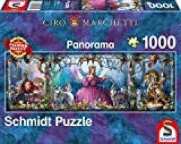 Schmidt Spiele- Ciro Marchetti - Puzzle panorámico de Palacio de Hielo (1000 Piezas), Color carbón (59612)
