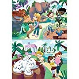 Educa - En El Zoo, 2 Puzzles infantiles de 20 piezas, a partir de 3 años (18603)