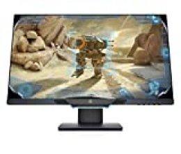 """HP 25MX - Monitor (25"""", velocidad de 144 Hz, Tecnología AMD FreeSync, iluminación ambiental, 1920 x 1080 a 60 Hz) color negro"""