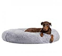 Ailotrd Cama de perro mullida lavable para gato cueva donut calmante cama mascota cojín con cubierta exterior para perro pequeño mediano extra grande (XL, gris)