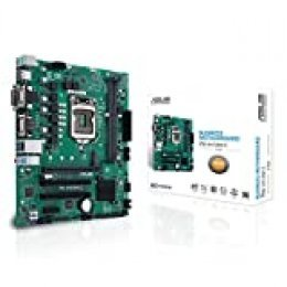 ASUS Pro H410M-C/CSM - Placa Base Profesional mATX Intel de 10a Gen LGA 1200, M.2, DDR4, LAN 1Gb, HDMI, DVI, VGA, USB 3.2 Gen 1