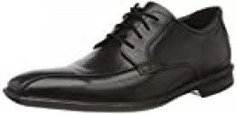 Clarks Bensley Run, Zapatos de Cordones Derby para Hombre, Negro (Black Leather Black Leather), 44 EU