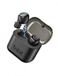 Auriculares inalámbricos - Tribit X1 Bluetooth 5.0 3D Estéreo Bajo Profundo 18Hrs Auriculares en la Oreja para Correr Deportivo, Estuche de Carga de micrófono Incorporado con cancelación de Ruido