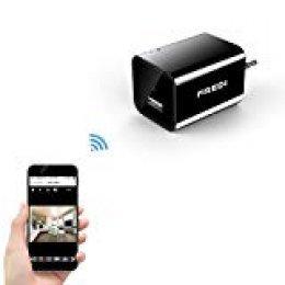 Mini WiFi Cámara Espía/Oculta/HD 1080p /Admite Tarjeta de 128G(no Incluye) Detección de Movimiento Cámara vigilancia Camara IP de FREDI
