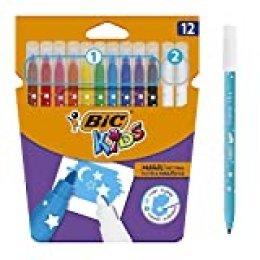 BIC Kids Magic rotuladores - colores Surtidos, Blíster de 12 unidades