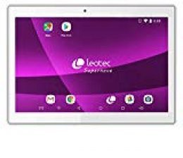 "LEOTEC SuperNova Qi32 - Tablet de 10.1"" IPS (Quad Core, 2 GB RAM, 32 GB Memoria, WiFi, Bluetooth, HDMI); Blanco"