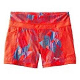 Saucony Bullet de la mujer tight pantalones cortos - SA81554, Hibiscus/Multi