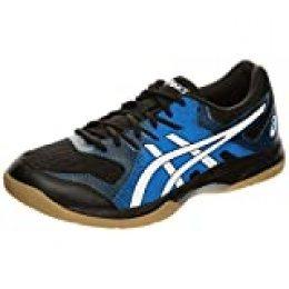 Asics Gel-Rocket 9, Zapatilla para Deportes para Hombre, Negro/Azul, 46.5 EU