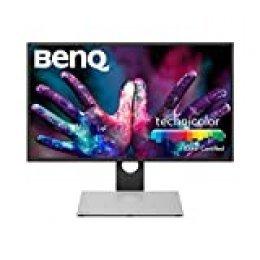 """BenQ PD2710QC - Monitor Profesional para Diseñadores de 27"""" 2K QHD (2560x1440, USB-C, IPS, 100% sRGB/Rec.709, 10 Bits, CAD/CAM, HDMI, DP, RJ-45, Altura ajustable, Eye-care, antireflejos) - Negro /Gris"""